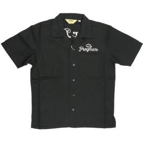 (アビレックス) AVIREX アヴィレックス ショートスリーブ ボーリング シャツ「AVIREX DIVER」開襟シャツ メンズ レディース L 09_Black 6195109