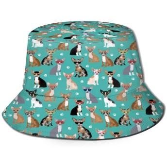 Cute Cartoon Dogsバケットハット ハット 帽子 紫外線対策 サファリハット カジュアル スポーツ メンズ レディース プレゼント UVカット つば広 おしゃれ 可愛い 日よけ 夏季 小顔効果