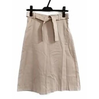トゥモローランド TOMORROWLAND スカート サイズ34 S レディース 美品 ブラウン×白 ラメ【中古】20190710