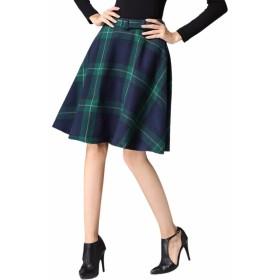 スカート レディース 可愛い チェック柄 Aライン 膝丈スカート 通勤 デート 女性用