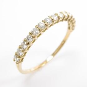 【リメイク】K18YG ハーフエタニティ ダイヤモンドリング