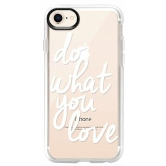 ケースティファイ CASETIFY レディース iPhone (8 Plus)ケース Do What You Love 6/7/8 & 7/8 Plus iPhone Case White