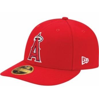 ニューエラ New Era メンズ キャップ 帽子 Los Angeles Angels 59Fifty Game Red Low Crown Authentic Hat