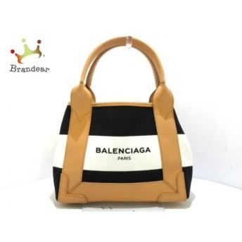 バレンシアガ トートバッグ 美品 ネイビーカバXS 390346 黒×アイボリー×ライトブラウン 値下げ 20190912