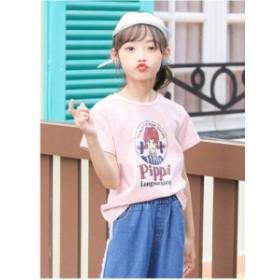 韓国子供服 tシャツ 女の子 夏物  綿 ワンピース ジュニア ファッション カジュアル クラシック  結婚式 二次会 ダンス発表会 発表会 通