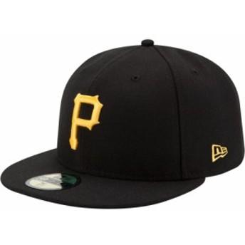 ニューエラ New Era メンズ キャップ 帽子 Pittsburgh Pirates 59Fifty Game Black Authentic Hat