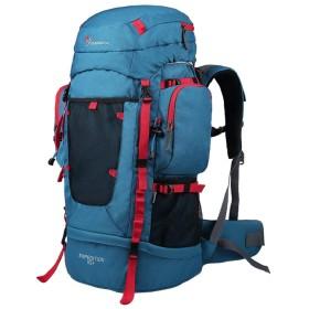 アウトドアバックパック - 等身大のバッグ多機能スポーツバックパック55L + 10L防水 (色 : 青, サイズ さいず : 76  30  25cm)