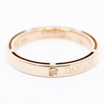 【新品仕上げ済み】ダミアーニ ブラピコラボ 1Pダイヤモンド ディサイドリング 18金ピンクゴールド 15号【指輪】【中古】