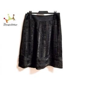 ニジュウサンク 23区 スカート サイズ38 M レディース ダークブラウン×黒   スペシャル特価 20191114