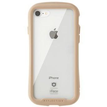 iFace(アイフェイス) iPhone 8/7対応 リフレクション 強化ガラスクリアケース ベージュ