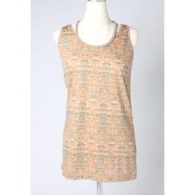 LIPSTAR エスニック柄三つ編みタンクトップ Tシャツ・カットソー,イエロー系その他