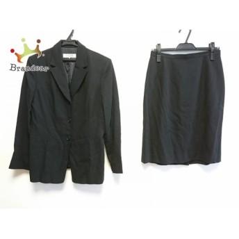 ランバンコレクション スカートスーツ サイズ42 L レディース 美品 黒 肩パッド 値下げ 20190914
