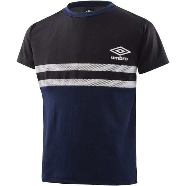 UMBRO(アンブロ) ラインドワンポイント S/Sシャツ UMJNJA63 BKNV