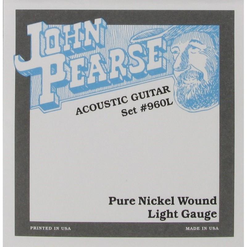 John Pearse 960L 民謠吉他弦 純鎳弦 Pure Nickel Wound (12-54)