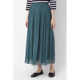 HUMAN WOMAN 《arrive paris》楊柳マキシスカート ひざ丈スカート,ブルー