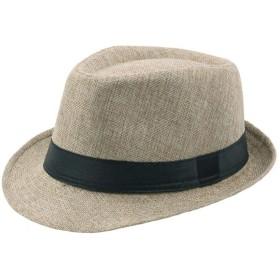 SCILLO(エスシーアイエルエルオ)ハットメンズウールハット中折れハット中折れ帽フェルトハット紳士帽子おしゃれ大人かっこいいウールフェルト人気秋冬帽子ファッション大きいサイズ(ライトカーキ)