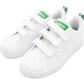 [アディダス] VALCLEAN バルクリーン キッズ ジュニア スニーカー シューズ 靴 (21.5cm, ホワイト/グリーン) [並行輸入品]