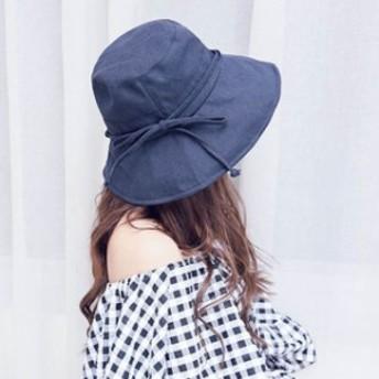女優帽 つば広 サファリハット リボン つば広 帽子 日よけ 折りたたみ 飛ばない ハット UVカット 夏 紫外線 フェス 登山