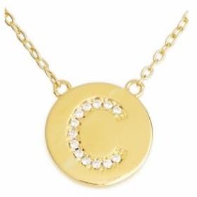 スターリング フォーエバー STERLING FOREVER レディース ジュエリー・アクセサリー Crystal Embellished Initial Pendant Gold-C