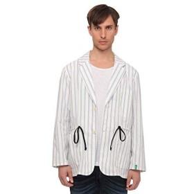 [ユナイテッドカラーズオブ ベネトン] アウター ストライプシャツジャケット メンズ ホワイト S
