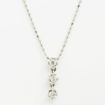 クレージュ 3P ダイヤモンド 18金ホワイトゴールド【ペンダント】【中古】