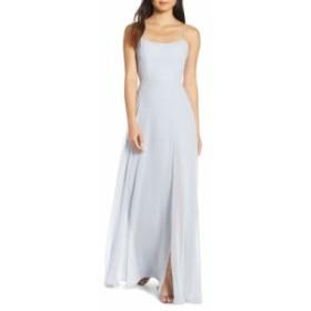 ジェニー ヨー JENNY YOO レディース パーティードレス ワンピース・ドレス Kiara Bow Back Chiffon Evening Dress Whisper Blue