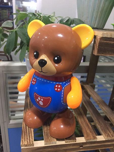 創意款塑料男孩跳舞電動熊 兒童燈光音樂唱歌公仔玩具熊 兒童玩具 電動玩具