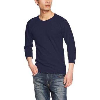 (クリフメイヤー) KRIFF MAYER ヘビーリップル7分袖TEE (7分袖Tシャツ 半端袖 無地Tシャツ インナーTシャツ) 1747201 S ネイビー