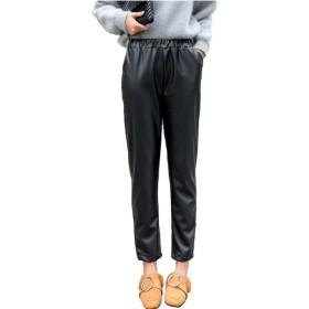 Heaven Days(ヘブンデイズ) パンツ ズボン PUレザー ハロンパンツ クロップド丈 着やせ効果 レディース 1711M0209