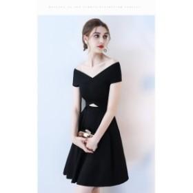 イブニングドレス 優雅パーティドレス   お呼ばれ Vネック ワンピース プリンセス 司会者/二次会/年会 /誕生日/デート