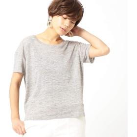 (コムサ イズム) COMME CA ISM リネン天竺 バックシャン Tシャツ(ONIGIRI) 52-68CL87-109 M グレー