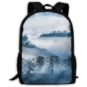 大容量 バックパック 霧の森 ビジネスリュック バッグ 男女共用 ショルダー アウトドア 通勤 通学 出張 旅行 多機能