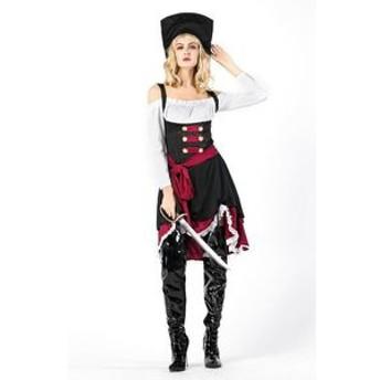 ハロウィン 海賊 パイレーツ コスチューム 仮装 衣装 コスプレ 魔女 コスチューム レディース 女海賊 オブカリビアン ハロウィーン 衣装