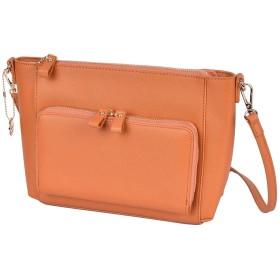 SAISAI(サイサイ) お財布 ショルダー お財布ポシェット ウォレットバッグ お財布バッグ ダブルファスナー ママ sd-pu-sf-wallbag (BROWN)