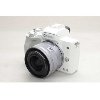[中古] Canon EOS Kiss M ダブルズームキット ホワイト 2683C003
