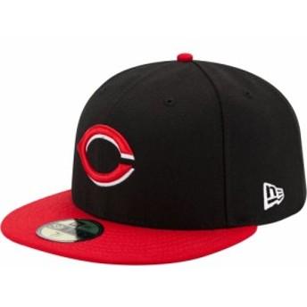 ニューエラ New Era メンズ キャップ 帽子 Cincinnati Reds 59Fifty Alternate Black Authentic Hat