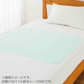 パイル防水シーツ(小) ブルー 75×90cm 39112-01