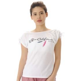 [ジーフィット] G-FIT フィットネスウェア 1904OM デザインTシャツ OM-C997TS [レディース] ホワイト (W) Mサイズ