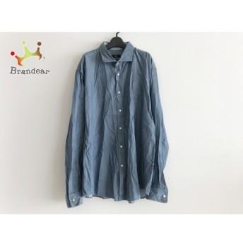 ヒューゴボス HUGOBOSS 長袖シャツ サイズ2XL メンズ 美品 ブルー×ライトブルー×マルチ 新着 20190803
