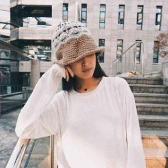 ニット帽 レディース あったか 女性用 ニット帽子 着こなし あったかい かわいい おしゃれ ハット風デザイン