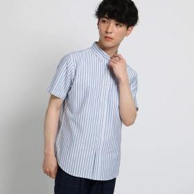 (ザ ショップ ティーケー) THE SHOP TK 【WEB/一部店舗限定】半袖オックスシャツ N4086601 04(XL) サックス(390)