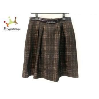 ジユウク 自由区/jiyuku スカート サイズ40 M レディース 黒×ベージュ×ブラウン ベロア   スペシャル特価 20191103