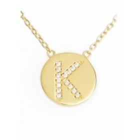 スターリング フォーエバー STERLING FOREVER レディース ジュエリー・アクセサリー Crystal Embellished Initial Pendant Gold-K
