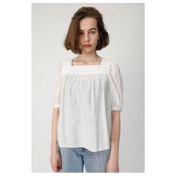 マウジー moussy SQUARE NECK H/S BLOUSE (オフホワイト)