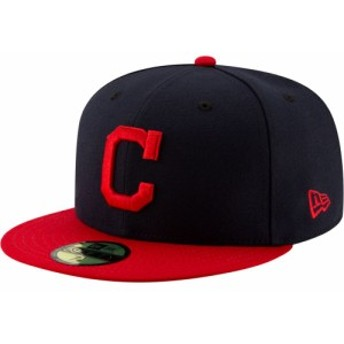 ニューエラ New Era メンズ キャップ 帽子 Cleveland Indians 59Fifty Home Navy Authentic Hat