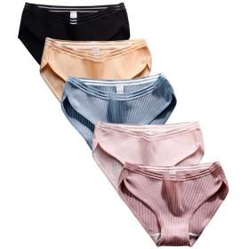 Rokery コットン パンツ レディース 下着 ショーツ レディース 綿 女性 柔らかい 高通気性 高伸縮性 5枚セット