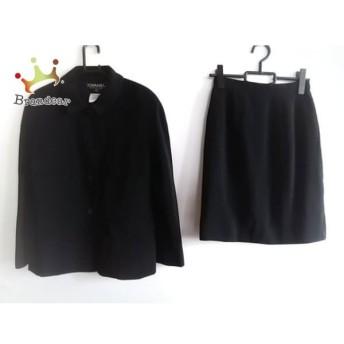 シャネル CHANEL スカートスーツ サイズ38 M レディース 美品 黒 肩パッド 値下げ 20190908
