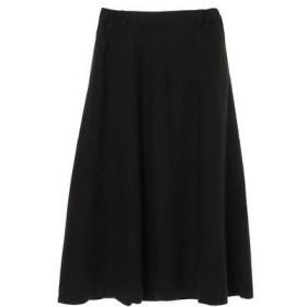 グリーンパークス Green Parks SUGAR SPOON 麻混フレアギャザースカート (Black)
