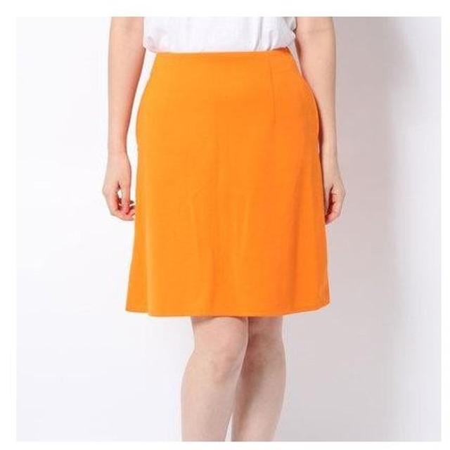 イーハイフンワールドギャラリーアウトレット E hyphen world gallery outlet M フロントZipスカート (オレンジ)