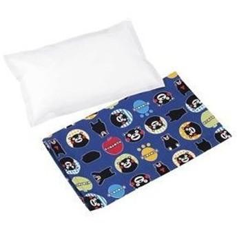 ds-1988841 枕/寝具 【約190×290×28mm】 約1200g 日本製 綿カバー付き 『くまモンの塩まくら』 〔寝室 ベッドルーム〕 (ds1988841)